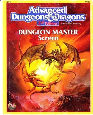 Advanced Dungeons & Dragons: Dungeon Master Screen, Ref 1, No. 9263, 2nd Edition (Official Game Accessory)