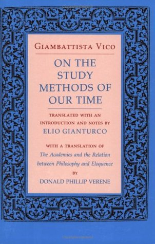 On the Study Methods of Our Time by Giambattista Vico