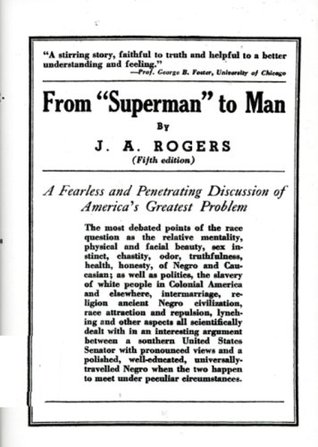 """From """"Superman"""" to Man by J.A. Rogers"""