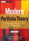 Modern Portfolio Theory: Foundations, Analysis, and New Developments (Wiley Finance)