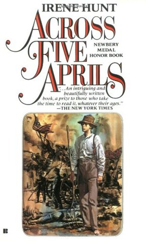 across five aprils by irene Across five aprils by irene hunt manages to turn the thrilling action and gruesome turmoil of war into threadbare monotony despite its detailed descriptions of familial discords, the book has no central plot.
