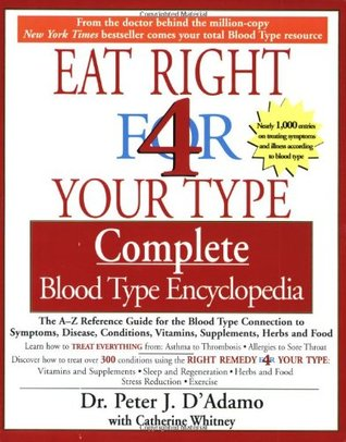 The Eat Right 4 Your Type The complete Blood Type Encyclopedia by Peter J. D'Adamo