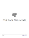 The Gaol Naofa FAQ