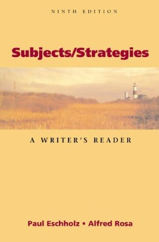 Subjects/Strategies by Alfred Rosa
