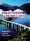 Research Methods For Business Students: And Researching And Writing A Dissertation, A Guidebook For Business Students