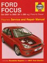 Ford Focus Petrol And Diesel Service And Repair Manual: 2001 To 2005 (Haynes Service And Repair Manuals)