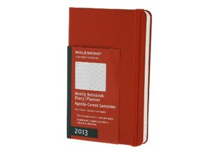 Moleskine 2013 Weekly Planner+Notes, 12 Month, Pocket, Red, Hard Cover (3.5 x 5.5)