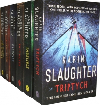 Karin Slaughter Collection 6 Books Set Pack Blindsighted, Indelible, A Faint Cold Fear, Kisscut, Triptych, Faithless