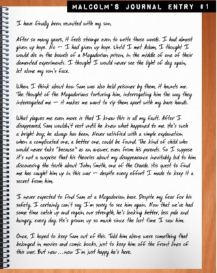 Malcolm's Journal (Lorien Legacies: The Lost Files Bonus)