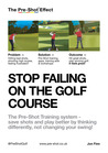 Stop Failing on the Golf Course -XLD: Save Shots and Play Better by Thinking Differently, not Changing Your Swing