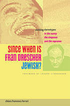 Since When Is Fran Drescher Jewish?: Dubbing Stereotypes in the Nanny, the Simpsons, and the Sopranos Chiara Francesca Ferrari