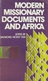 Modern Missionary Documents and Africa