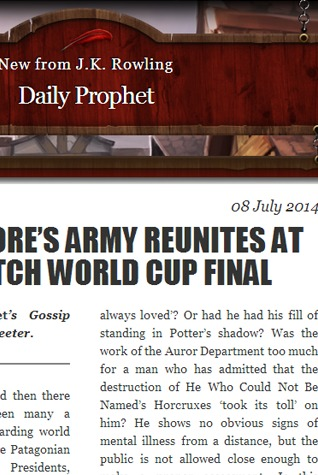 Dumbledore's Army Reunites at Quidditch World Cup Final (Harry Potter, #7.5)