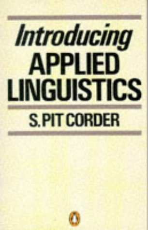 Introducing applied linguistics pit corder