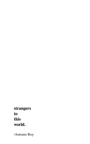 Strangers to this World by Antonio Roy