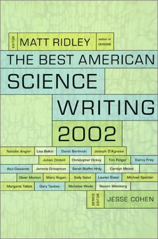 The Best American Science Writing 2002 by Matt Ridley