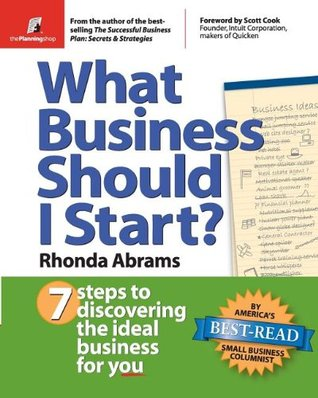 What Business Should I Start? by Rhonda Abrams