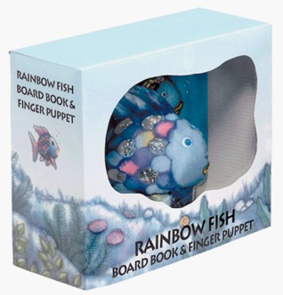 Rainbow Fish Board Book and Finger Puppet Marcus Pfister