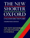 The New Shorter Oxford English Dictionary on Historical Principles: 2 Volume Set: Thumb Indexed