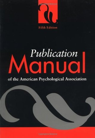 Publication Manual of the American Psychological Association by American Psychological Asso...