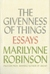 The Giveness of Things - Essays