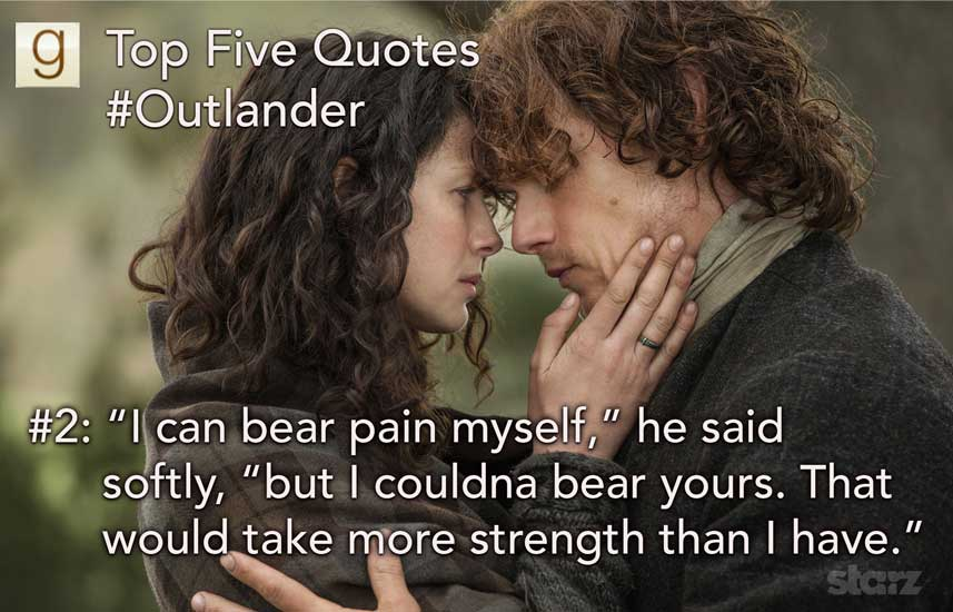 Goodreads Quotes Cool Goodreads Blog Post Top Five Outlander Quotes On Goodreads