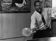 the great composer/pianist thelonious monk playing ping-pong...