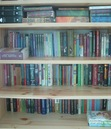 This is my bookshelf... Not all of my books are present, because I don't have any more space.