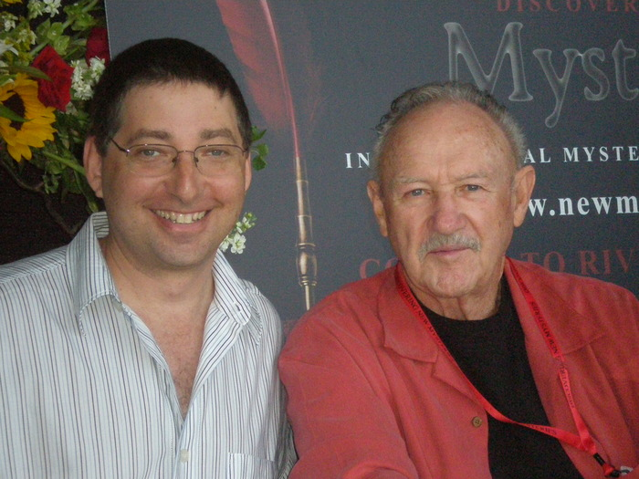 Lee Goldberg and Gene Hackman at the International Mystery Writers Festival in Owensboro, KY 2008