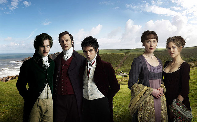 Edward Ferrars, Christopher Brandon, John Willoughby, Elinor Dashwood, Marianne Dashwood.
