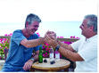 Eric Ripert and Anthony Bourdain spend some quality time by the sea.