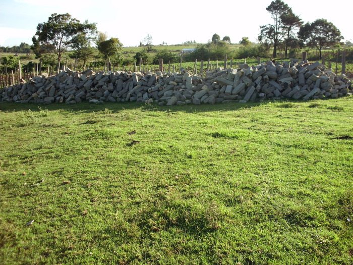 This is the stone we have so far on the site in Kenya.