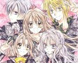 Shizumasa (the greyish haired one on the left) Haine (the one with a big smile in the middle) Ushio (the kind of scary looking girl) Maguri (the blonde guy) Maora (the girl in the bottom left with the peace sign)