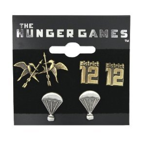 Check out these cute earrings I found on amazon here: http://www.amazon.com/Hunger-Games-Earrings-Stud-District/dp/B003YRK25Y/ref=sr_1_3?s=apparel&ie=UTF8&qid=1322848801&sr=1-3