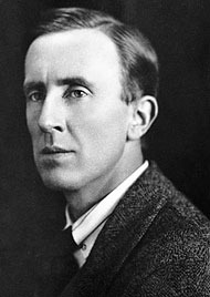 A picture of Tolkien when he was younger than what we're used to seeing him...