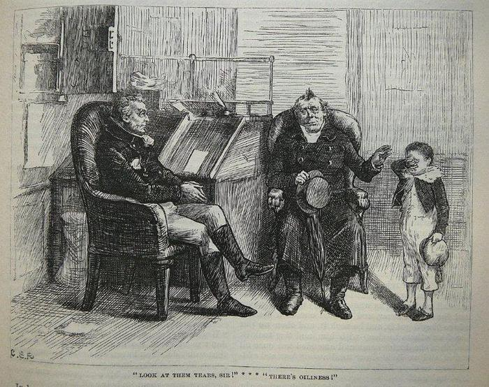 From the 1875 Household Edition of Nicholas Nickleby by Charles Dickens. Illus. by C.S. Reinhart.