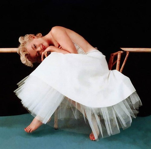 Marilyn Monroe by photographer Milton H. Greene. From the ballerina series, 1954.