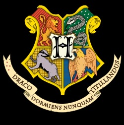 Traditional Hogwarts crest