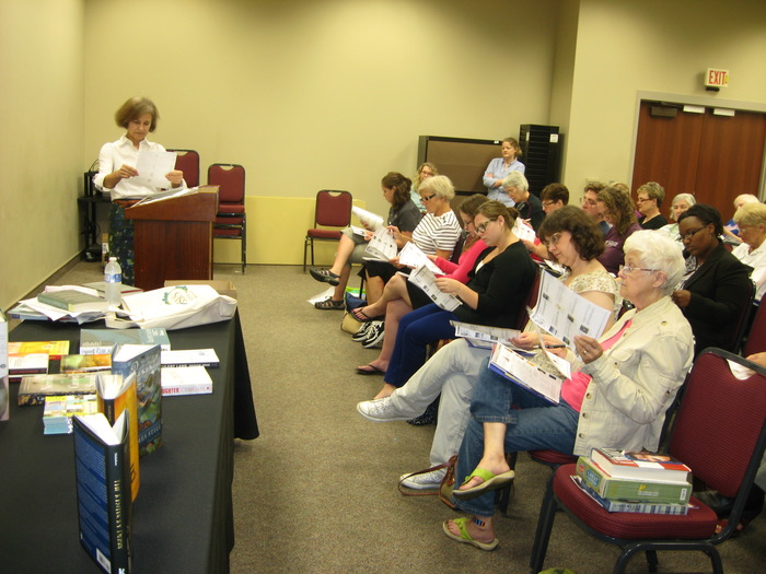 Mary Ann Buehler of Putnam/Penguin talks to about 50 people about books to keep an eye out for. Many thanks to Joseph-Beth Booksellers and University Press of Kentucky for providing the book talk speakers!