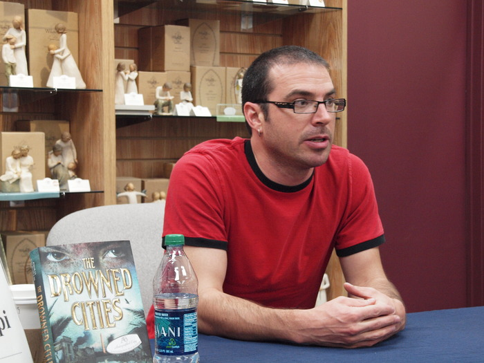 On tour for his novel, <i>The Drowned Cities</i>, at Anderson's Bookshop Two Doors Down, Naperville.
