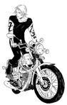Jace with his trusty vampire motorcycle