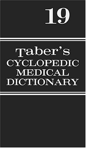 Tabers Cyclopedic Medical Dictionary -Thumb-Indexed Version