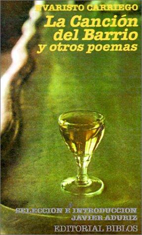 La canción del barrio y otros poemas Evaristo Carriego