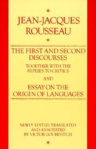 essay on the origin of languages rousseau