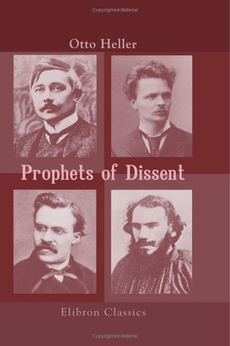 """dissent essay maeterlinck nietzsche prophets strindberg tolstoy Start by marking """"prophets of dissent: essays on maeterlinck, strindberg, nietzsche and tolstoy"""" as want to read:."""