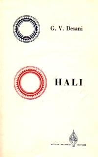 Hali / A poetic play  by  G.V. Desani