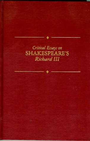 critical essay on shakespeare Critical essays on shakespeare's hamlet by david scott kastan, 9780783800011, available at book depository with free delivery worldwide.