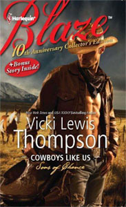 Book Review: Vicki Lewis Thompson's Cowboys Like Us