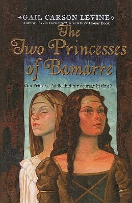 The cover of The Two Princesses of Bamarre by Gail Carson Levine.