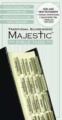 MISC   Majestic Bible Tabs, Traditional Silver-Edged NOT A BOOK
